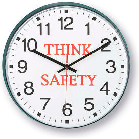 """Infinity/Itc 90/00Ts-1  Message Clock - 12"""" Diameter - Think Safety"""