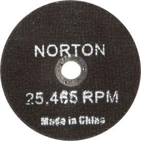 "Norton 66252835553 Gemini Small Diameter Cut-Off Wheel 3"" x 1/16"" x 3/8"" 36 Grit Alum. Oxide Type 1 - Pkg Qty 25"