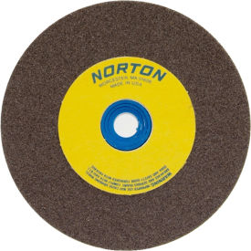 "Norton 66252836131 Gemini Bench and Pedestal Wheel 6"" x 1/2"" x 1"" 60 Grit Aluminum Oxide"