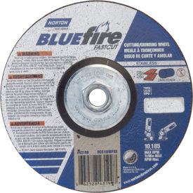 """Norton 66252843199 BlueFire Grinding and Cutting Wheel 6"""" x 1/8"""" x 5/8 11""""... by"""