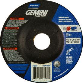 "Norton 66252843584 Gemini Grinding Wheel 4-1/2"" x 1/4"" x 7/8"" 24 Grit... by"