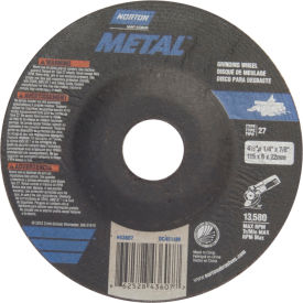 37 Pack 24 Grit Alum Oxide Depressed Center Wheel 7 in Dia 1//4 in Thick