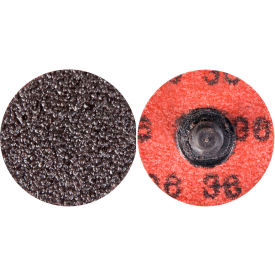 "Norton 66623318979 Neon Quick-Change Cloth Disc 1-1/2"" Dia. P50 Grit Zirconia Alumina Type III - Pkg Qty 100"