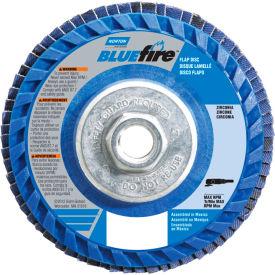"Norton 66623399155 BlueFire Plastic Flat Flap Disc T27 7"" x 5/8 - 11"" P36 Grit Zirconia Alumina - Pkg Qty 10"