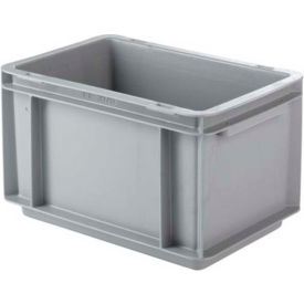 """SSI Schaefer Euro-Fix Solid Container EF3170 - 12"""" x 8"""" x 7"""", Gray"""