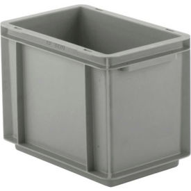 """SSI Schaefer Euro-Fix Solid Container EF3220 - 12"""" x 8"""" x 9"""", Gray"""