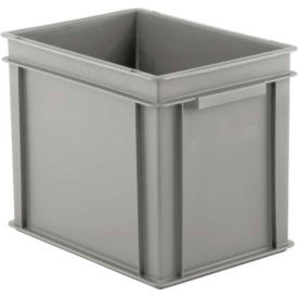 "SSI Schaefer Euro-Fix Solid Container EF4320 - 16"" x 12"" x 13"", Gray"