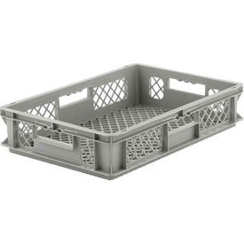 """SSI Schaefer Euro-Fix Mesh Container EF6123 - 24"""" x 16"""" x 5"""", Gray"""