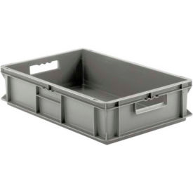 """SSI Schaefer Euro-Fix Solid Contain EF6140 - 24"""" x 16"""" x 5"""", Gray"""