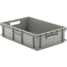 """SSI Schaefer Euro-Fix Solid Container EF6150 - 24"""" x 16"""" x 6"""", Gray"""