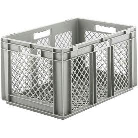 "SSI Schaefer Euro-Fix Mesh Container EF6323 - 24"" x 16"" x 13"", Gray - Pkg Qty 4"
