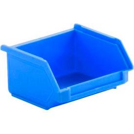 SSI Schaefer  LF040402.0BL1 - 4 x 4 x 2 LF Hopper Front Plastic Stacking Bin, Blue,
