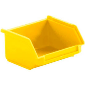 SSI Schaefer  LF040402.0YL1 - 4 x 4 x 2 LF Hopper Front Plastic Stacking Bin, Yellow,  - Pkg Qty 50