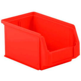 SSI Schaefer  LF090605.0RD1 - 6 x 9 x 5 LF Hopper Front Plastic Stacking Bin, Red,  - Pkg Qty 20