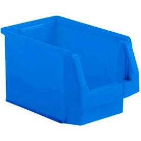 SSI Schaefer  LF140808.0BL - 8 x 14 x 8 LF Hopper Front Plastic Stacking Bin, Blue,  - Pkg Qty 20