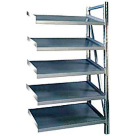 "Steel Pick Shelving, 5 Level, Single, Tilt, 78""H x 50""W x 32""D, Add-On"