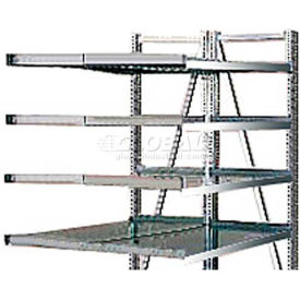 "Steel Pick Shelving, 5 Level, Double,Straight/Straight, 78""H x 50""W x 48""D, Add-On"