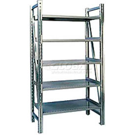 "Steel Pick Shelving, 5 Level, Single, Straight, 78""H x 50""W x 24""D, Starter"