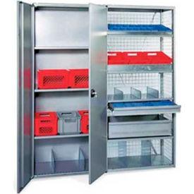 "R3000 Steel Shelving, 85""H Starter Unit, Solid Side/Back Panels, W/Six Shelves, Closed"
