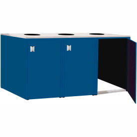 "Triple Recycle Cabinet - 90""W x 27-3/4""D x 39-15/32""H (Monaco Blue)"
