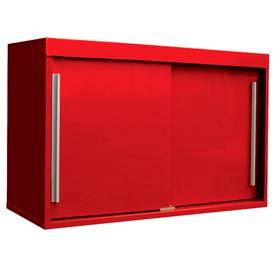 "48"" Sliding Door Upper Cabinet-48""W x 15""D x 30""H-Carmine Red"