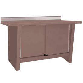 Custom® Series-Stationary, Stainless Steel Top, 2 Doors-Pewter Grey