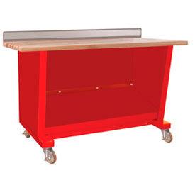 Custom® Series-Portable, Hardwood Top, open-Carmine Red