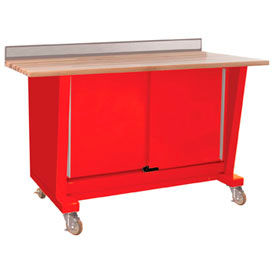 Custom® Series-Portable, Hardwood Top, 2 Doors-Carmine Red