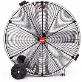 """Shop-Vac Industrial Drum Fan 1180200, 36"""" Dia., 1/2 HP, Direct Drive, 11,000 CFM, Stainless Steel"""