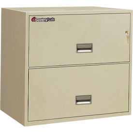 "2 Drawer Insulated Lateral File Cabinet - 36""W, Putty, Legal"
