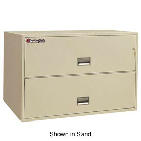 "2 Drawer Insulated Lateral File Cabinet - 43""W Putty, Legal"