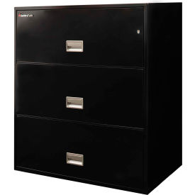 "3 Drawer Insulated Lateral File Cabinet - 30""W Black, Legal"