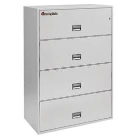 "4 Drawer Insulated Lateral File Cabinet - 36""W Light Gray, Legal"