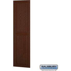 "Salsbury Side Panel 11135 - for 21"" Door Deep Solid Oak Executive Wood Locker, Dark Oak"