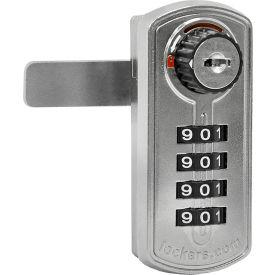 Salsbury Resettable Combination Lock 22295 for Extra Wide Designer Wood Locker Door Silver