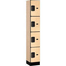 "Salsbury Designer Wood Locker 34165 - Four Tier 1 Wide 12""W x 15""D x 18""H Maple Assembled"