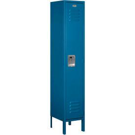 """Salsbury Metal Locker 61152 - Single Tier 1 Wide 12""""W x 12""""D x 60""""H Blue Unassembled"""