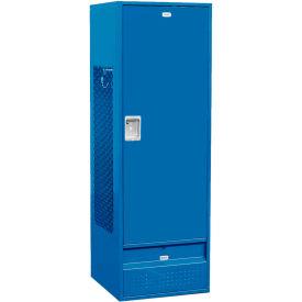 """Salsbury Gear Metal Locker 71024 - Solid Door 24""""W x 24""""D x 72""""H Blue Unassembled"""