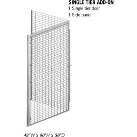 "Salsbury Bulk Storage Locker 8143-A - Add-On Unit Single Tier 48""W x 36""D x 90""H Gray"