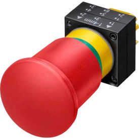 Siemens 3SB3000-1TA20 E-Stop Pushbutton, Maintained, Red, 40mm, Operator, Round-Plastic