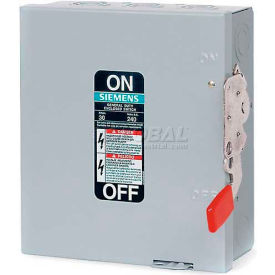 Siemens GF323N Safety Switch 100A, 3P, 240V, 4W, Fused, GD, Type 1