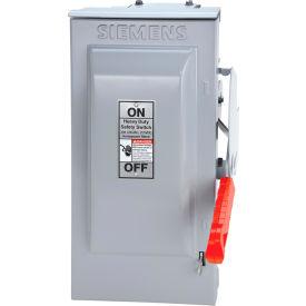 Siemens HF363RG Safety Switch 100A, 3P, 600V, 3W, Fused, HD, T3R W/Gb
