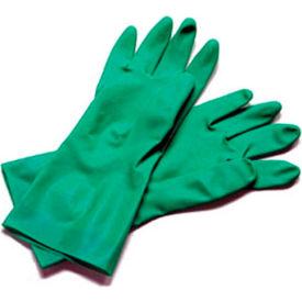 """Dishwashing Glove, Large, 13"""", Nitrile Rubber - 12 Pairs, Green"""