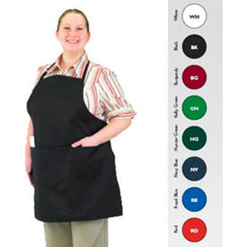 Front Of The House Gourmet Full Length Bib Apron, Burgundy
