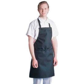 """Chef Revival 601MAJ-BK - Majesty Bib Apron, 30"""" x 34"""", Waterproof, Black"""
