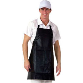 Bib Apron, 25X28, Economy, Naugahyde Leather Look, Brown