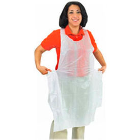 "San Jamar 8706 - Bib Apron, Disposable, Lightweight, 1-1/4 mil Polyethylene, 28"" x 46"""