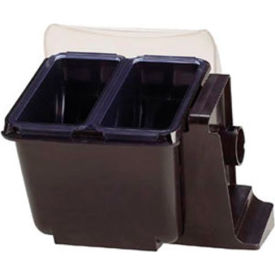 Mini Dome Domed Condiment Center, Holds (2) 1.5 Pt. Notched Lid Deep Trays