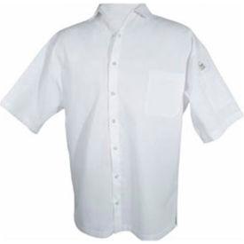 Cook Shirt, Large, Breast Pocket, Short Sleeve, White