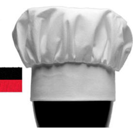 "San Jamar H400BK Chef's Hat, 13"" Tall, Adjustable Velcro ® Brand Closure, Black"
